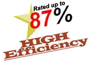 87% High Efficiency