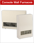 Console Gas Wall Furnaces