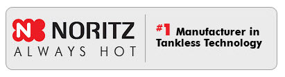 Noritz tankless water heaters provide an endless supply of hot water on demand.