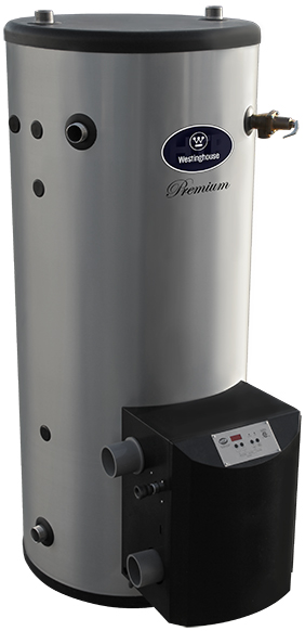 Westinghouse 100 Gallon WGCM100LP130 Stainless Steel, Gas Fired Commercial Water Heater