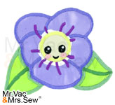 Meet the Flowers Appliqué- Violet