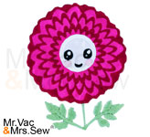 Meet the Flowers Appliqué- Cosmos