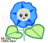 Meet the Flowers Appliqué- Morning Glory