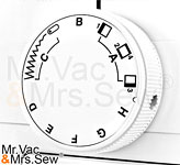 Stitch Selection And Width Dial