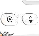 Needle Up/Down Button and Lock Stitch Button